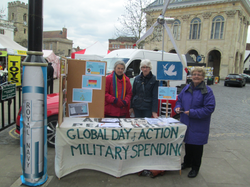 Global day of action on Military Spending - stall