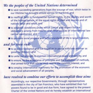 Product - United Nations Charter poster