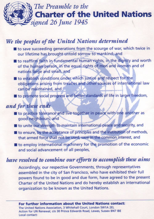 Preamble to the United Nations Charter