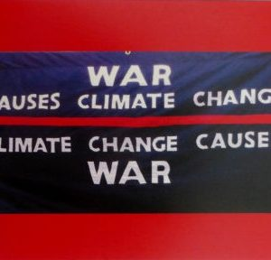 Product - War Causes Climate Change postcard