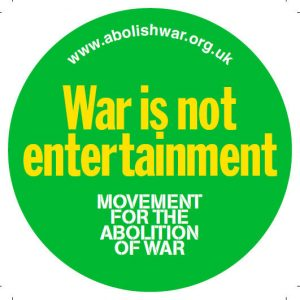 Product - War is NOT Entertainment sticker