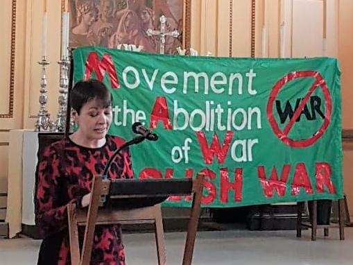 Caroline Lucas gives Remembrance Lecture 2018